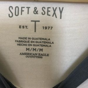American Eagle Outfitters Tops - 🆕 Soft & Sexy AE Ringer Tee